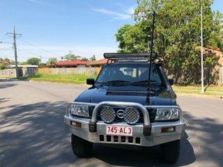 2002 Nissan Patrol GU III ST (4x4) Blue 5 Speed Manual Wagon