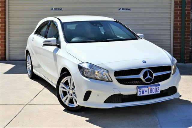 Used Mercedes-Benz A-Class W176 808MY A180 D-CT Mount Lawley, 2017 Mercedes-Benz A-Class W176 808MY A180 D-CT White 7 Speed Sports Automatic Dual Clutch Hatchback