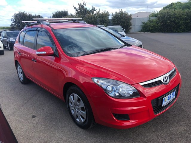 Used Hyundai i30 FD MY11 SX cw Wagon Devonport, 2012 Hyundai i30 FD MY11 SX cw Wagon Red 4 Speed Automatic Wagon