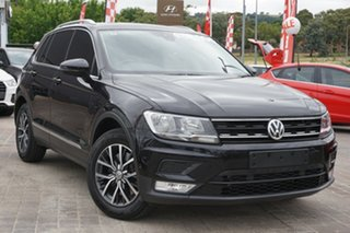 2017 Volkswagen Tiguan 5N MY17 132TSI DSG 4MOTION Comfortline Black 7 Speed.