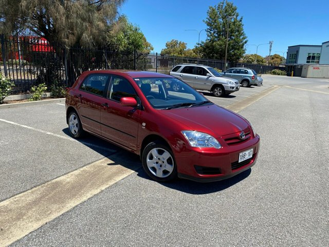 Used Toyota Corolla ZZE122R 5Y Ascent Mile End, 2006 Toyota Corolla ZZE122R 5Y Ascent Burgundy 4 Speed Automatic Hatchback