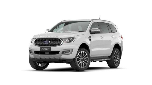 New Ford Everest UA II 2021.25MY Titanium Chullora, 2021 Ford Everest UA II 2021.25MY Titanium Arctic White 10 Speed Sports Automatic SUV