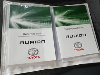 2014 Toyota Aurion GSV50R AT-X White 6 Speed Automatic Sedan
