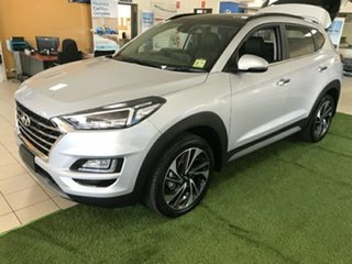 2020 Hyundai Tucson TL3 MY20 Highlander D-CT AWD Platinum Silver 7 Speed.