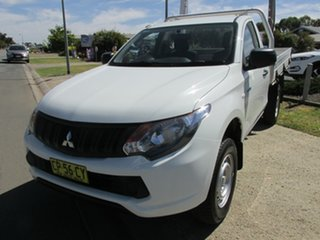 2017 Mitsubishi Triton MQ MY18 GLX 4x2 White 5 Speed Manual Cab Chassis.