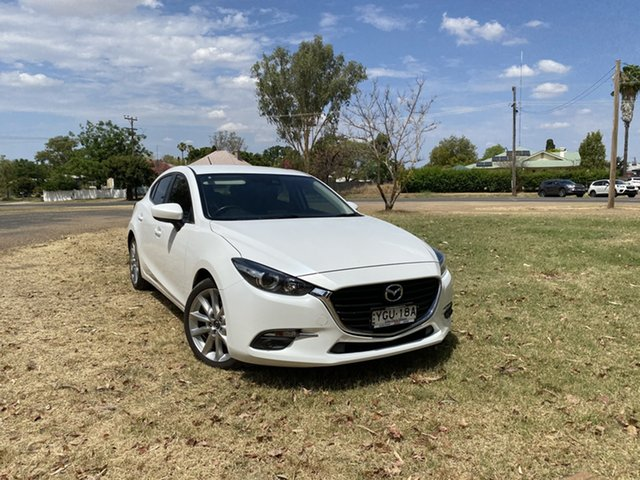 Used Mazda 3 BN5438 SP25 SKYACTIV-Drive Moree, 2016 Mazda 3 BN5438 SP25 SKYACTIV-Drive Crystal Pearl 6 Speed Sports Automatic Hatchback