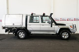 2015 Toyota Landcruiser VDJ79R MY12 Update GXL (4x4) Silver Pearl 5 Speed Manual Double Cab Chassis