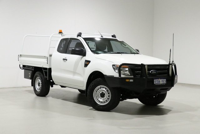 Used Ford Ranger PX XL 3.2 (4x4) Bentley, 2014 Ford Ranger PX XL 3.2 (4x4) White 6 Speed Manual Super Cab Chassis