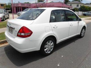 2008 Nissan Tiida C11 ST White 5 Speed Automatic Sedan.