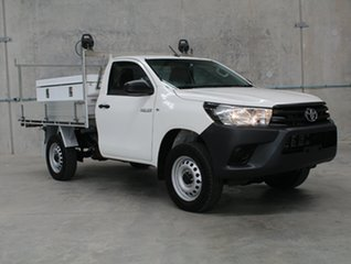 2017 Toyota Hilux GUN125R Workmate White 6 speed Automatic Cab Chassis.