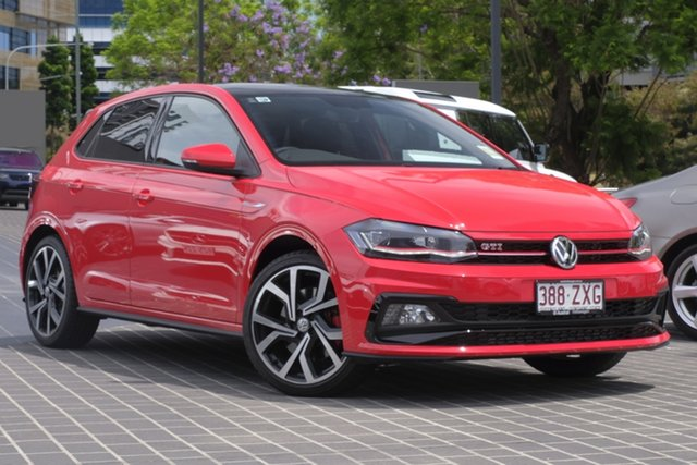 Demo Volkswagen Polo AW MY20 GTI DSG Newstead, 2020 Volkswagen Polo AW MY20 GTI DSG Flash Red 6 Speed Sports Automatic Dual Clutch Hatchback