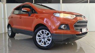 2013 Ford Ecosport BK Titanium PwrShift Orange 6 Speed Sports Automatic Dual Clutch Wagon.