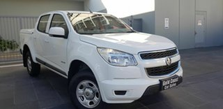 2013 Holden Colorado RG LX (4x2) White 6 Speed Automatic Crew Cab Pickup.