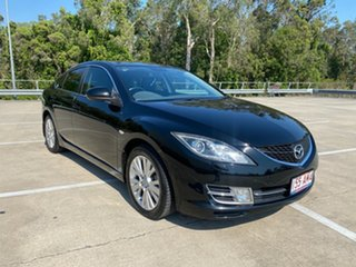 2008 Mazda 6 GH Luxury Sports Black 5 Speed Auto Activematic Hatchback.