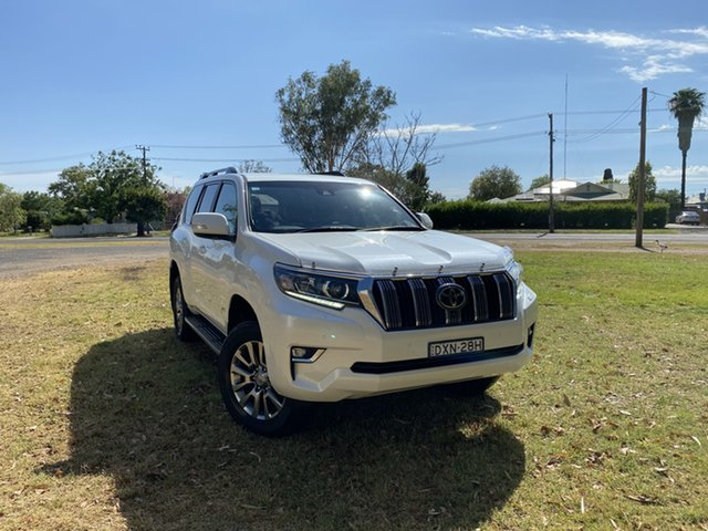 Used Toyota Landcruiser Prado GDJ150R VX Moree, 2018 Toyota Landcruiser Prado GDJ150R VX Crystal Pearl 6 Speed Sports Automatic Wagon