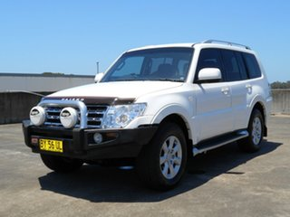 2010 Mitsubishi Pajero NT MY10 GLS White 5 Speed Sports Automatic Wagon