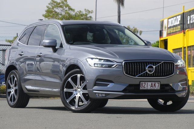 Used Volvo XC60 UZ MY18 D4 AWD Inscription Rocklea, 2018 Volvo XC60 UZ MY18 D4 AWD Inscription Mussel Blue 8 Speed Sports Automatic Wagon