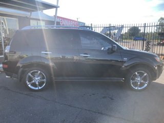 2007 Mitsubishi Outlander ZG MY08 XLS (7 Seat) Black 6 Speed CVT Auto Sequential Wagon.