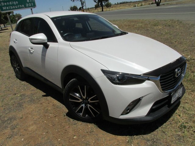 Used Mazda CX-3 DK2W7A sTouring SKYACTIV-Drive Echuca, 2018 Mazda CX-3 DK2W7A sTouring SKYACTIV-Drive White 6 Speed Sports Automatic Wagon