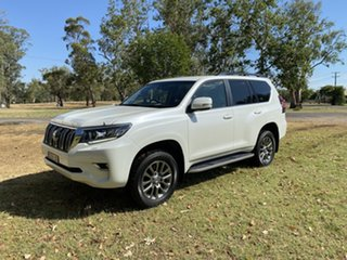 2018 Toyota Landcruiser Prado GDJ150R VX Crystal Pearl 6 Speed Sports Automatic Wagon.