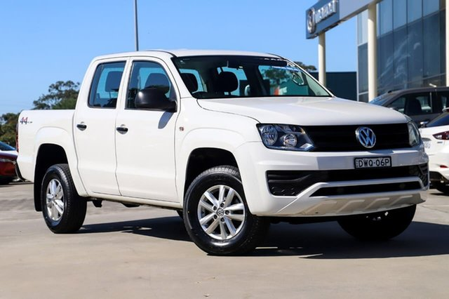 Used Volkswagen Amarok 2H MY18 TDI420 4MOTION Perm Core Kirrawee, 2018 Volkswagen Amarok 2H MY18 TDI420 4MOTION Perm Core White 8 Speed Automatic Cab Chassis