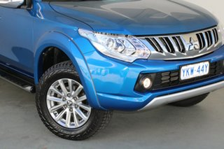 2015 Mitsubishi Triton MQ MY16 GLS Double Cab Impulse Blue 5 Speed Sports Automatic Utility.