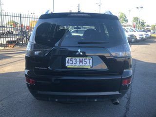 2007 Mitsubishi Outlander ZG MY08 XLS (7 Seat) Black 6 Speed CVT Auto Sequential Wagon