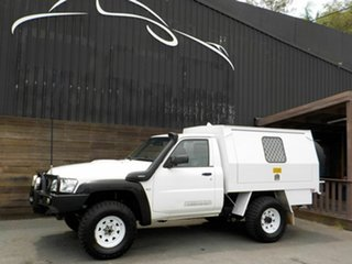 2013 Nissan Patrol Y61 Series 4 MY14 DX White 5 Speed Manual Cab Chassis.