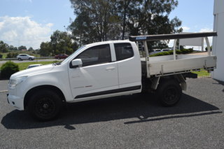 2012 Holden Colorado RG MY13 LX Space Cab White 5 Speed Manual Cab Chassis.