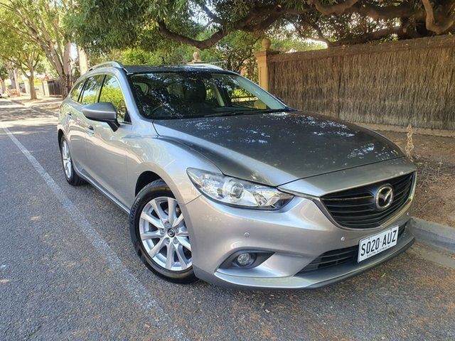 Pre-Owned Mazda 6 GJ1031 Touring SKYACTIV-Drive Hawthorn, 2012 Mazda 6 GJ1031 Touring SKYACTIV-Drive Silver 6 Speed Sports Automatic Wagon