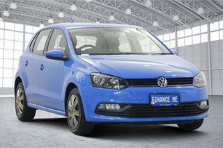 2017 Volkswagen Polo 6R MY17 66TSI DSG Trendline Blue 7 Speed Sports Automatic Dual Clutch Hatchback.