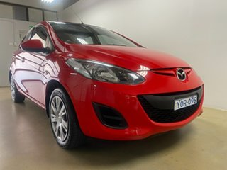 2012 Mazda 2 DE MY12 Neo Red 4 Speed Automatic Hatchback.