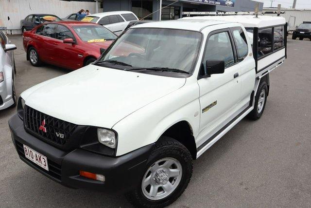 Used Mitsubishi Triton MK MY02 GLX Moorooka, 2002 Mitsubishi Triton MK MY02 GLX White 5 Speed Manual Cab Chassis