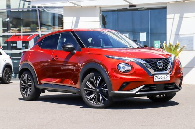 Demo Nissan Juke F16 Ti DCT 2WD Sutherland, 2020 Nissan Juke F16 Ti DCT 2WD Fuji Sunset Red 7 Speed Sports Automatic Dual Clutch Hatchback