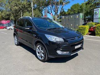 2015 Ford Kuga TF MY15 Titanium PwrShift AWD Black 6 Speed Sports Automatic Dual Clutch Wagon.