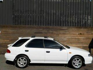 1998 Subaru Impreza N MY99 LX AWD White 5 Speed Manual Hatchback.