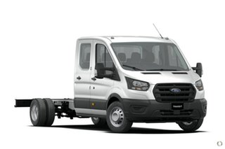 2020 Ford Transit VO 2020.50MY 470E White 6 Speed Manual Double Cab Chassis.