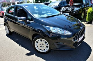 2013 Ford Fiesta WZ Ambiente Black 5 Speed Manual Hatchback.