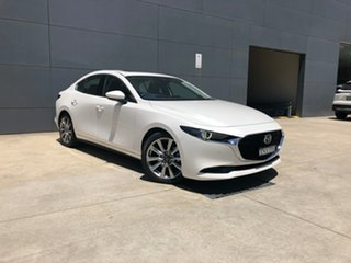2020 Mazda 3 BP2SLA G25 SKYACTIV-Drive Astina Snowflake White 6 Speed Sports Automatic Sedan.