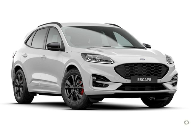Demo Ford Escape ZH 2020.75MY ST-Line Ferntree Gully, 2020 Ford Escape ZH 2020.75MY ST-Line White 8 Speed Sports Automatic SUV
