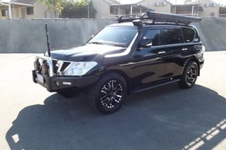 2016 Nissan Patrol Y62 Series 3 TI Black Obsidian 7 Speed Sports Automatic Wagon.