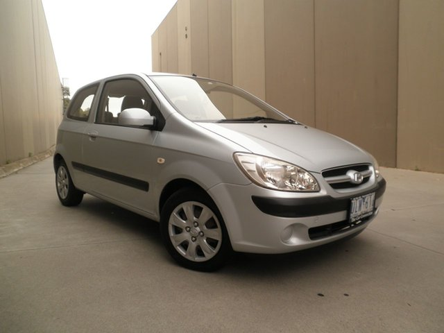 Used Hyundai Getz TB MY06 Cheltenham, 2006 Hyundai Getz TB MY06 Silver Lining 5 Speed Manual Hatchback