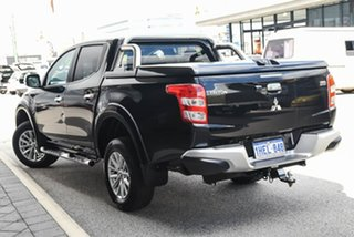 2016 Mitsubishi Triton MQ MY16 GLS Double Cab Black/black Sports Cloth 5 Speed Sports Automatic.