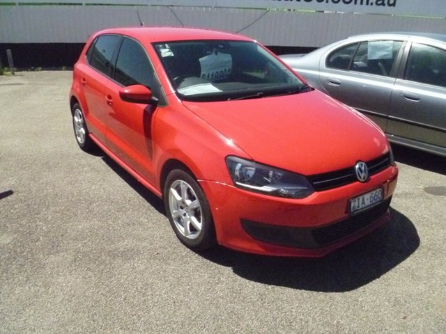 Used Volkswagen Polo 6R MY12.5 77TSI DSG Comfortline Moorabbin, 2012 Volkswagen Polo 6R MY12.5 77TSI DSG Comfortline Red 7 Speed Sports Automatic Dual Clutch