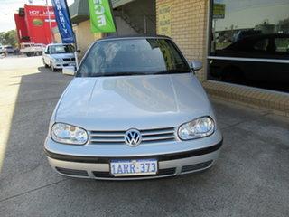2000 Volkswagen Golf 4th Gen GL Silver 4 Speed Automatic Cabriolet.
