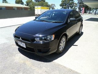 2011 Mitsubishi Lancer CJ MY11 SX Sportback Black 6 Speed CVT Auto Sequential Hatchback