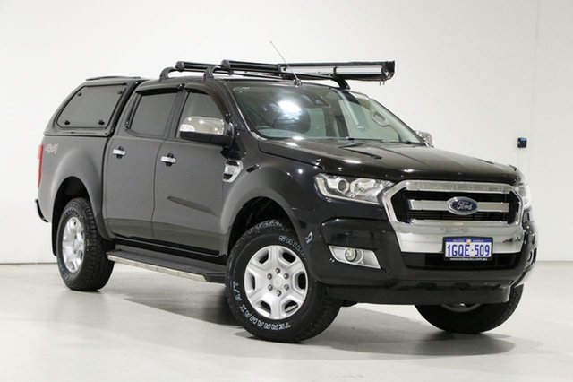 Used Ford Ranger PX MkII XLT 3.2 (4x4) Bentley, 2016 Ford Ranger PX MkII XLT 3.2 (4x4) Black 6 Speed Automatic Double Cab Pick Up