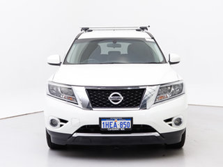 2015 Nissan Pathfinder R52 ST (4x4) White Continuous Variable Wagon.