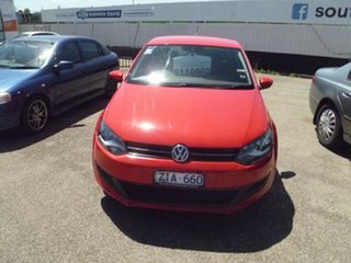 2012 Volkswagen Polo 6R MY12.5 77TSI DSG Comfortline Red 7 Speed Sports Automatic Dual Clutch.