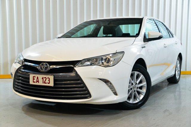 Used Toyota Camry AVV50R Altise Hendra, 2016 Toyota Camry AVV50R Altise White 1 Speed Constant Variable Sedan Hybrid